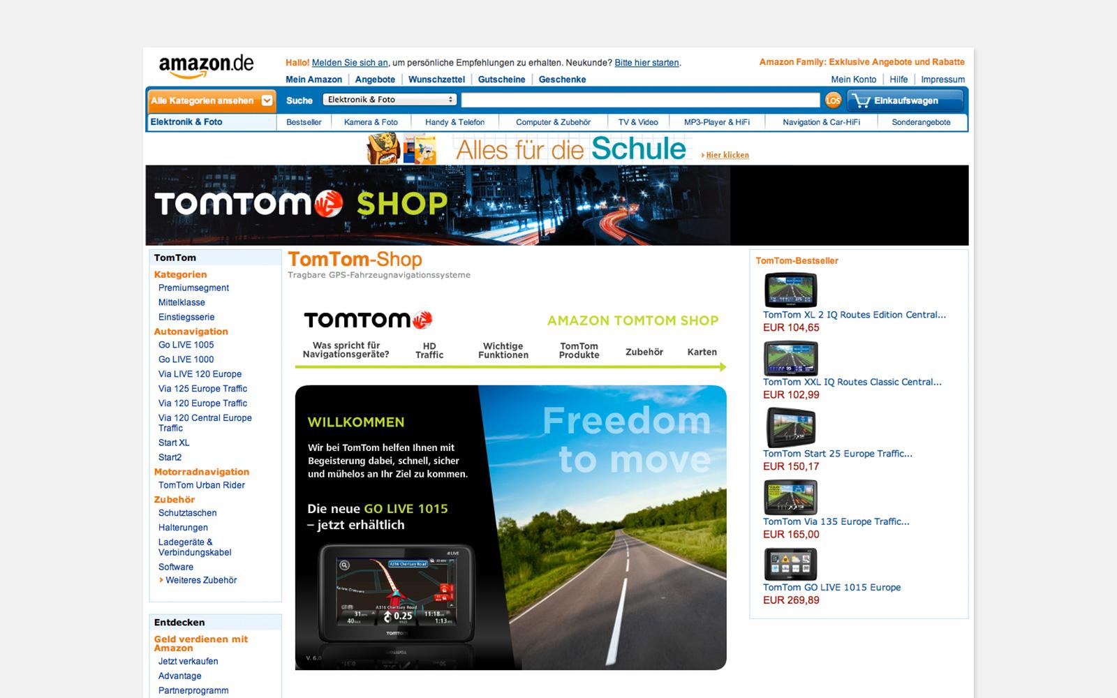 TomTom brand shop