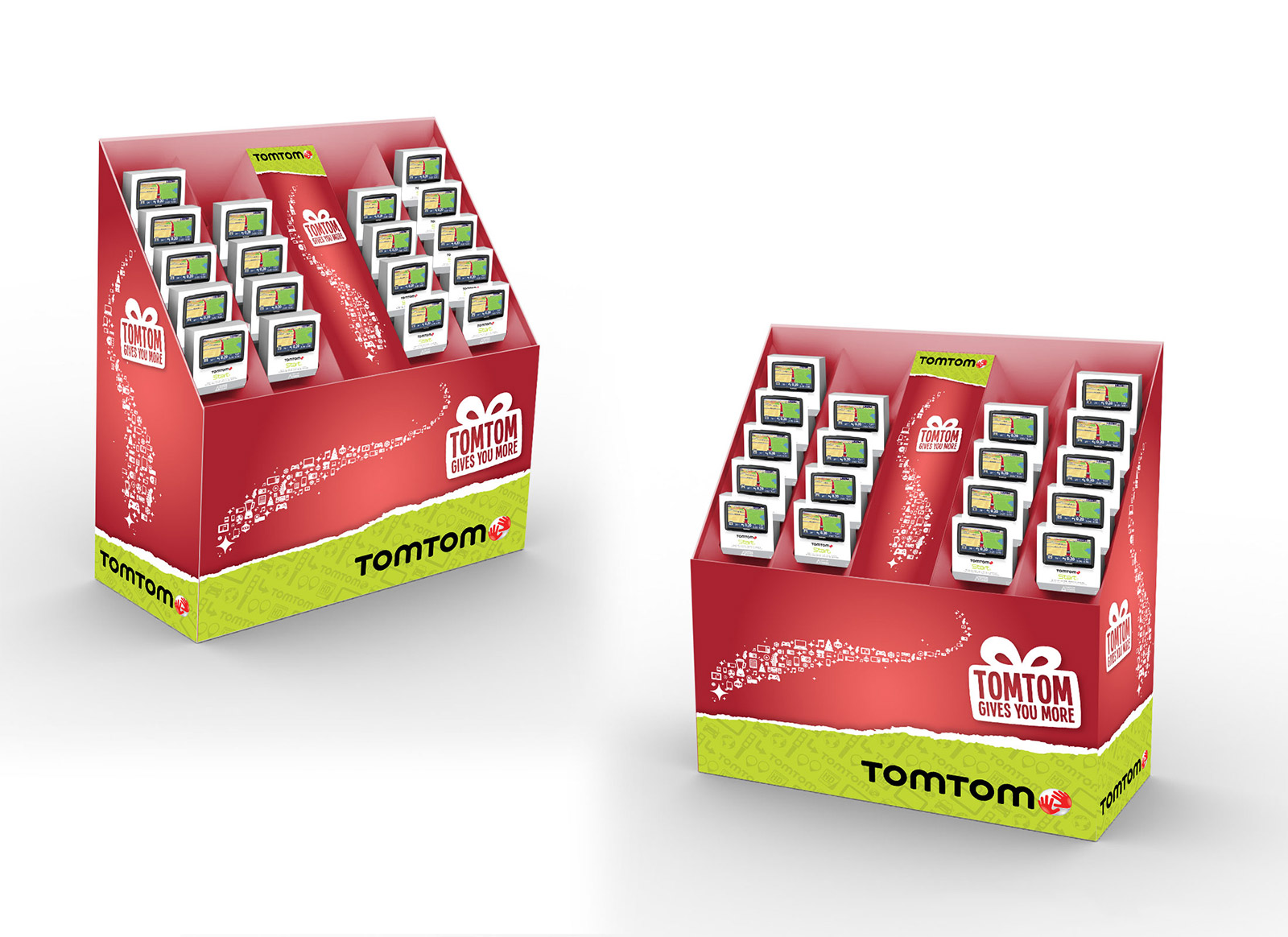 TomTom holiday display stand for Wallmart and Best Buy
