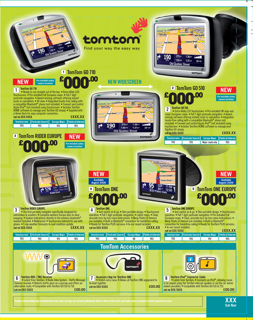 TomTom Page Argos Catalogue 66