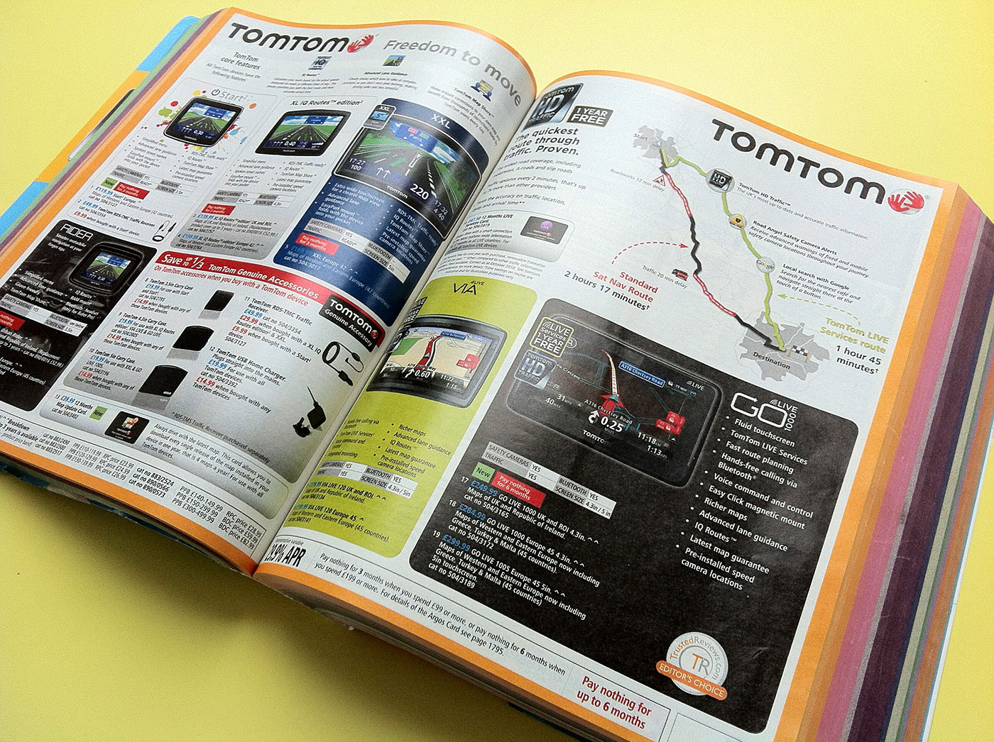 TomTom Page Argos Catalogue 75