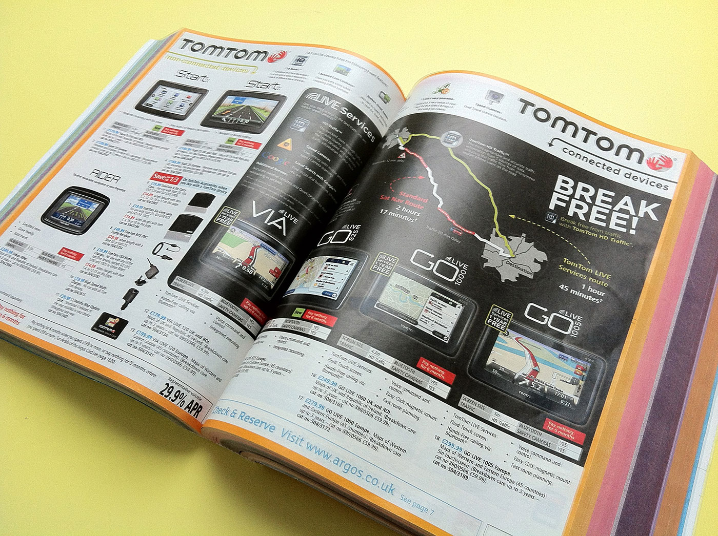 TomTom Page Argos Catalogue 76