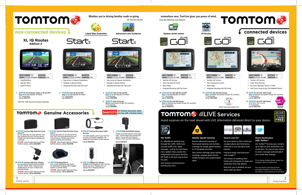 TomTom Page Argos Catalogue 77