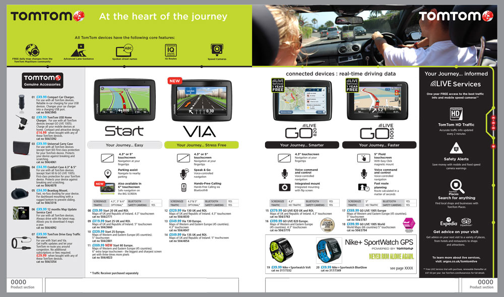 TomTom Page Argos Catalogue 78