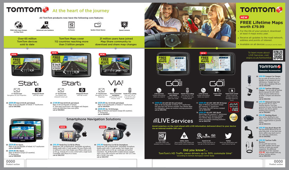 TomTom Page Argos Catalogue 79