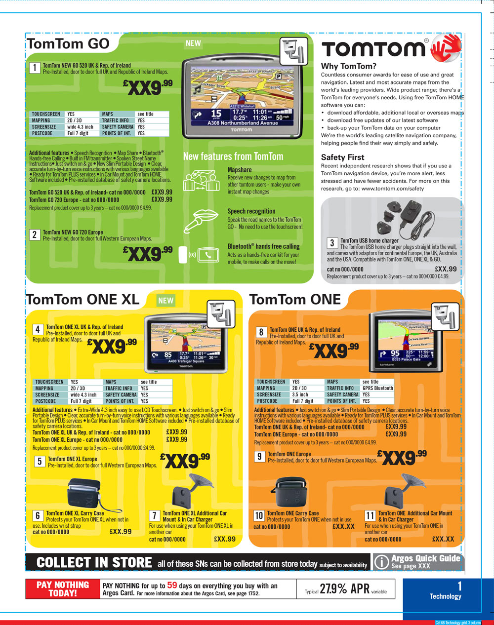 TomTom Page Argos Catalogue 68