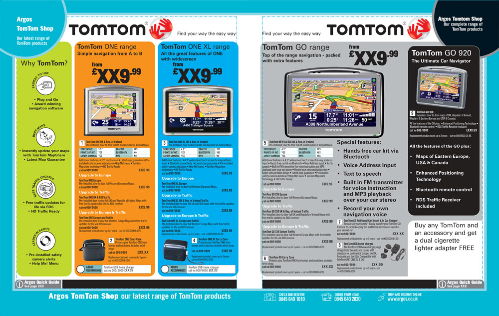 TomTom Page Argos Catalogue 69