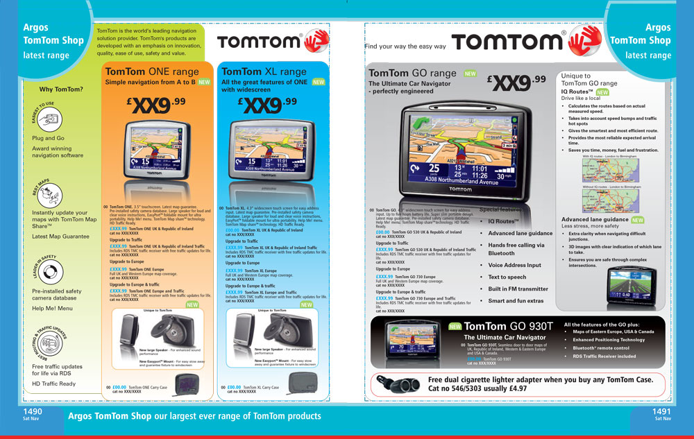 TomTom Page Argos Catalogue 70
