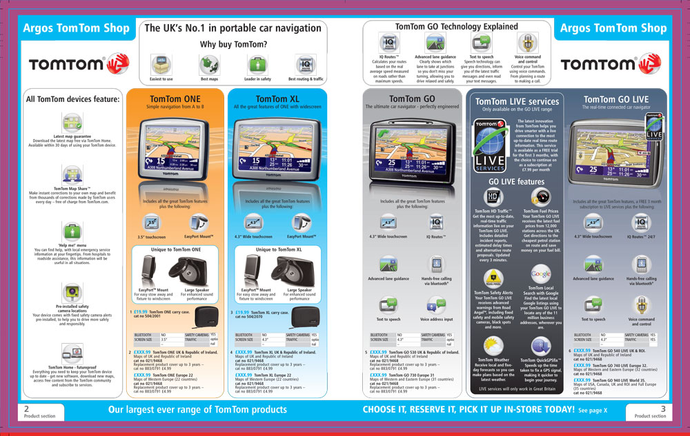 TomTom Page Argos Catalogue 71