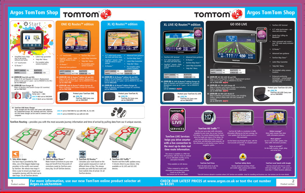 TomTom Page Argos Catalogue 73