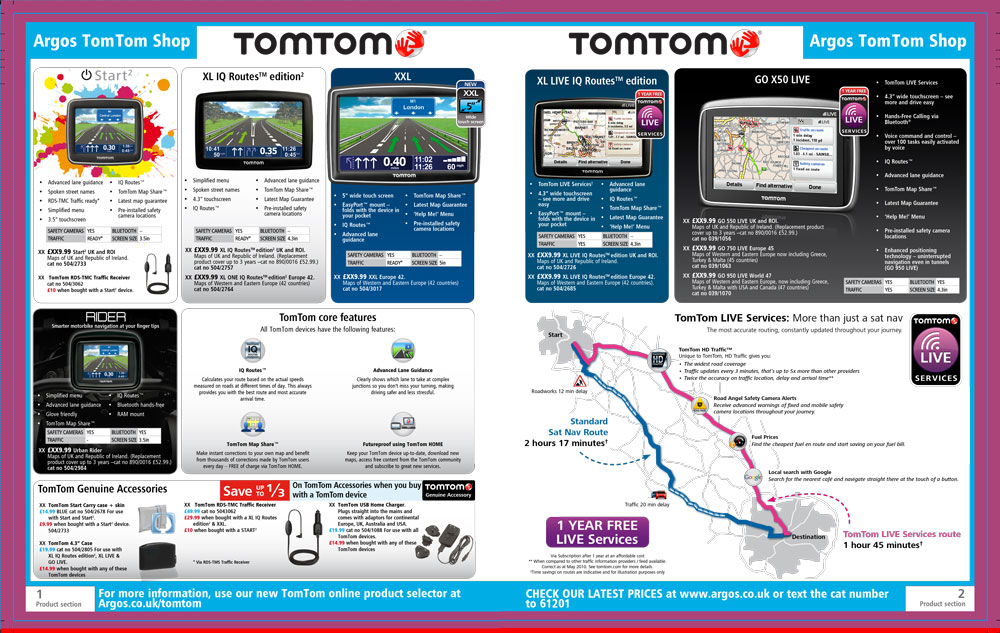 TomTom Page Argos Catalogue 74