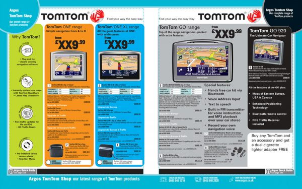 TomTom Argos pages