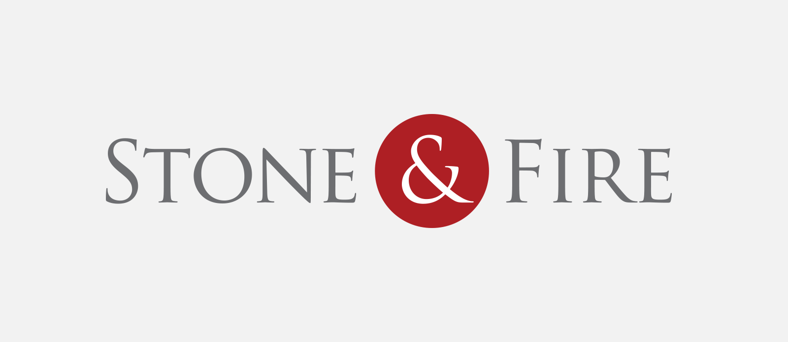 Stone and fire logo