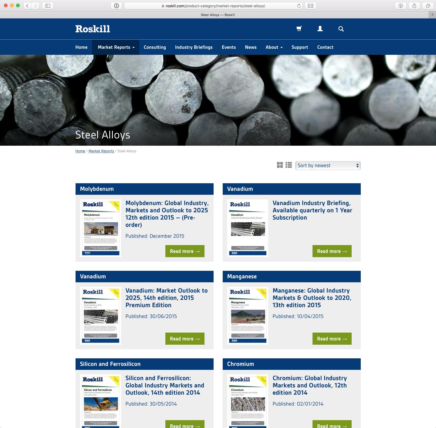 Roskill website