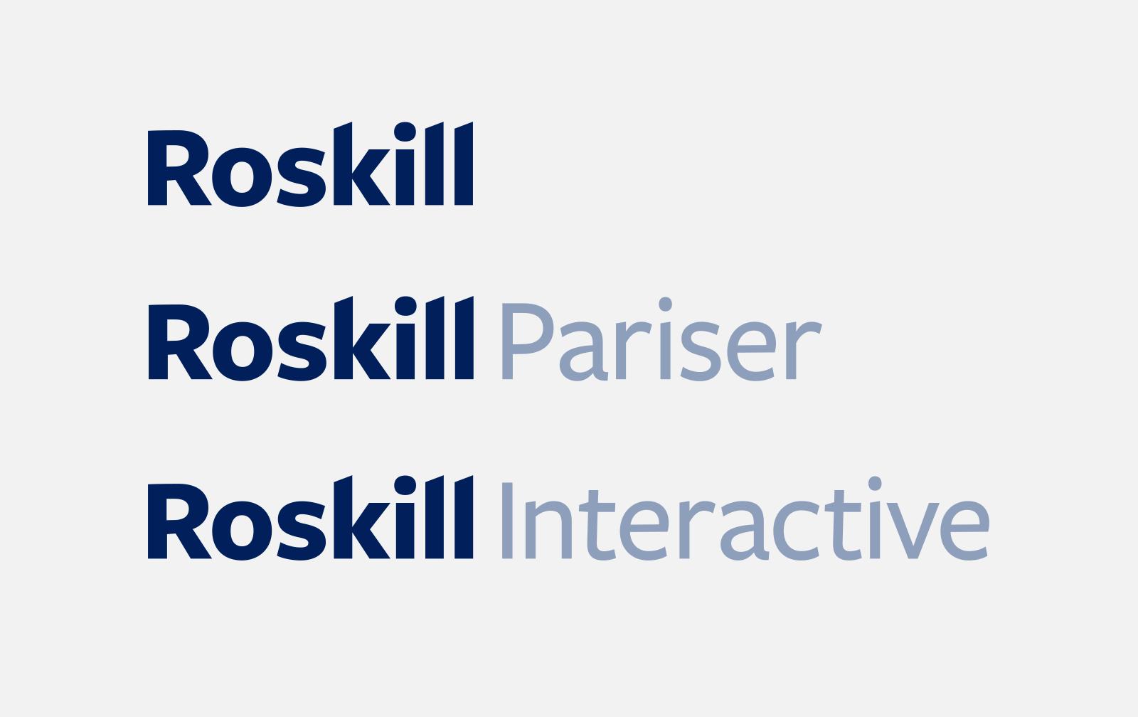 Roskill division logos